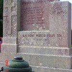Avallon stèle Route de Pontaubert